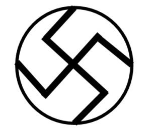 A Suástica Nazista tem o giro ao contrário da Esvástica Budista.