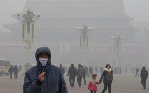 """Poluição em Pequim. Tudo depois dos """"vermelhos"""" invadirem o país."""