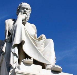 Burguês convicto, ele olhava para os democratas de Atenas assim, do alto de seu saber e de sua posição grega.