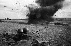 Cena da Segunda Grande Guerra Mundial.