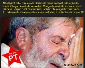 Noite aperreada do Lulaça, atualmente. O maldito triplex já o está fazendo se tornar tricotilofagista.