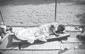 Pacientes psiquiátricos em hospital de Brasília.