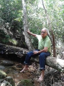 Eu, no ambiente em que mais gosto de estar - a Natureza Pura. Não sou de Ogum, sou de Oxóssi.