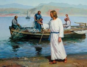 Yehoshua e seus futuros apóstolos Simão Barjonas e André.