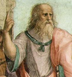 Creio que os petralhas, com suas mentes avançadas que é uma desgraça, viram nesta representação de Platão um modo de ele ensinar qual dedo devia ser usado num fuc-fuc...