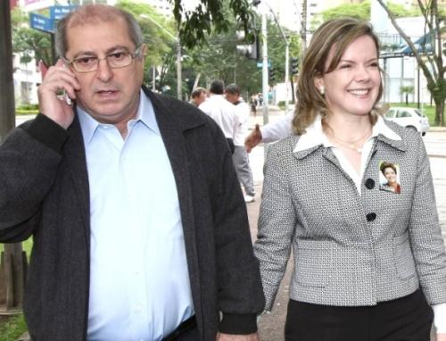 EX-MINISTRO PAULO BERNARDO E SUA GLAISI