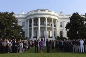 A Luz chegava à Casa Branca com uma família de negros...