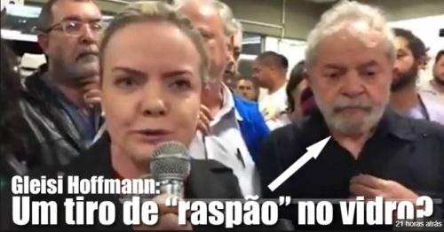 TIROS NOS ÔNIBOS DA COMITIVA DO LULA